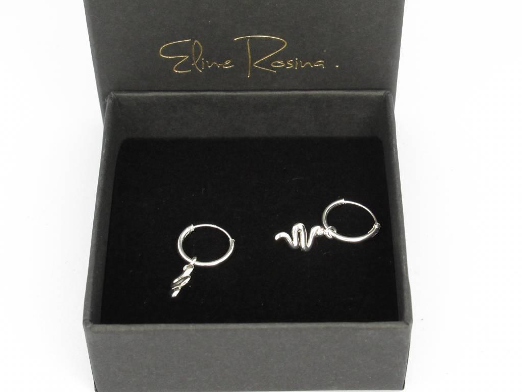Eline Rosina Eline Rosina oorbellen - Snake sterling silver