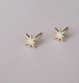 ZAG Bijoux Oorbellen ZAG Bijoux - White sparkling star goud