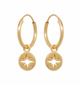 Eline Rosina Eline Rosina oorbellen - North star coin gold