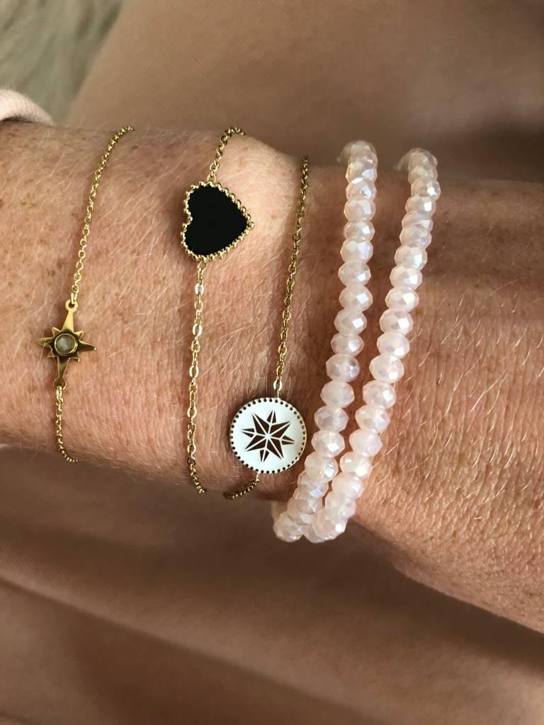 BIBA Armband ZAG Bijoux - Crystal facet lichtroze