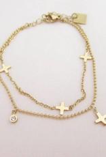 ZAG Bijoux ZAG Bijoux - Multi kruisjes goud
