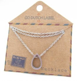 Go Dutch Label Kettingen Go Dutch Label - Druppel zilver