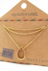 Go Dutch Label Kettingen Go Dutch Label - Druppel goud