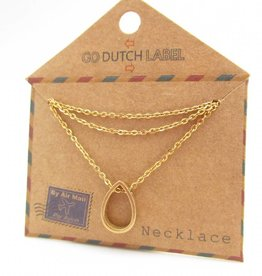Go Dutch Label Kettingen Go Dutch Label - Druppel goud