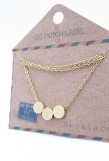 Go Dutch Label Go Dutch Label - 3 in a row goud