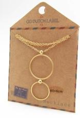 Go Dutch Label Kettingen Go Dutch Label - Cirkels goud (lang)