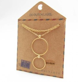 Go Dutch Label Kettingen Go Dutch Label - Cirkels goud (lang)