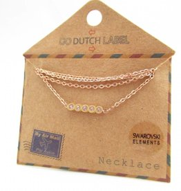 Go Dutch Label Kettingen Go Dutch Label - Swarvoski rose goud