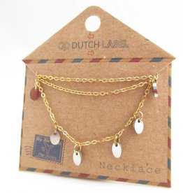 Go Dutch Label Kettingen Go Dutch Label - Coins goud/zilver