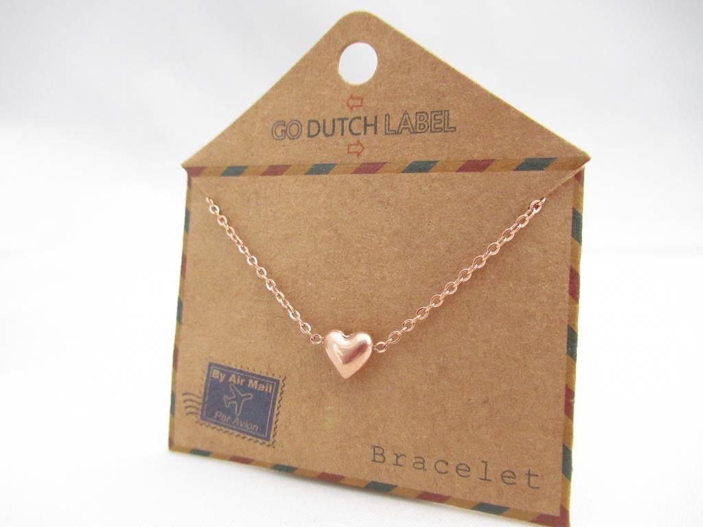 Go Dutch Label Go Dutch Label - Hartje (3D) rose goud