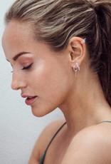 Eline Rosina Eline Rosina oorbellen - Zirconia drop chain sterling silver