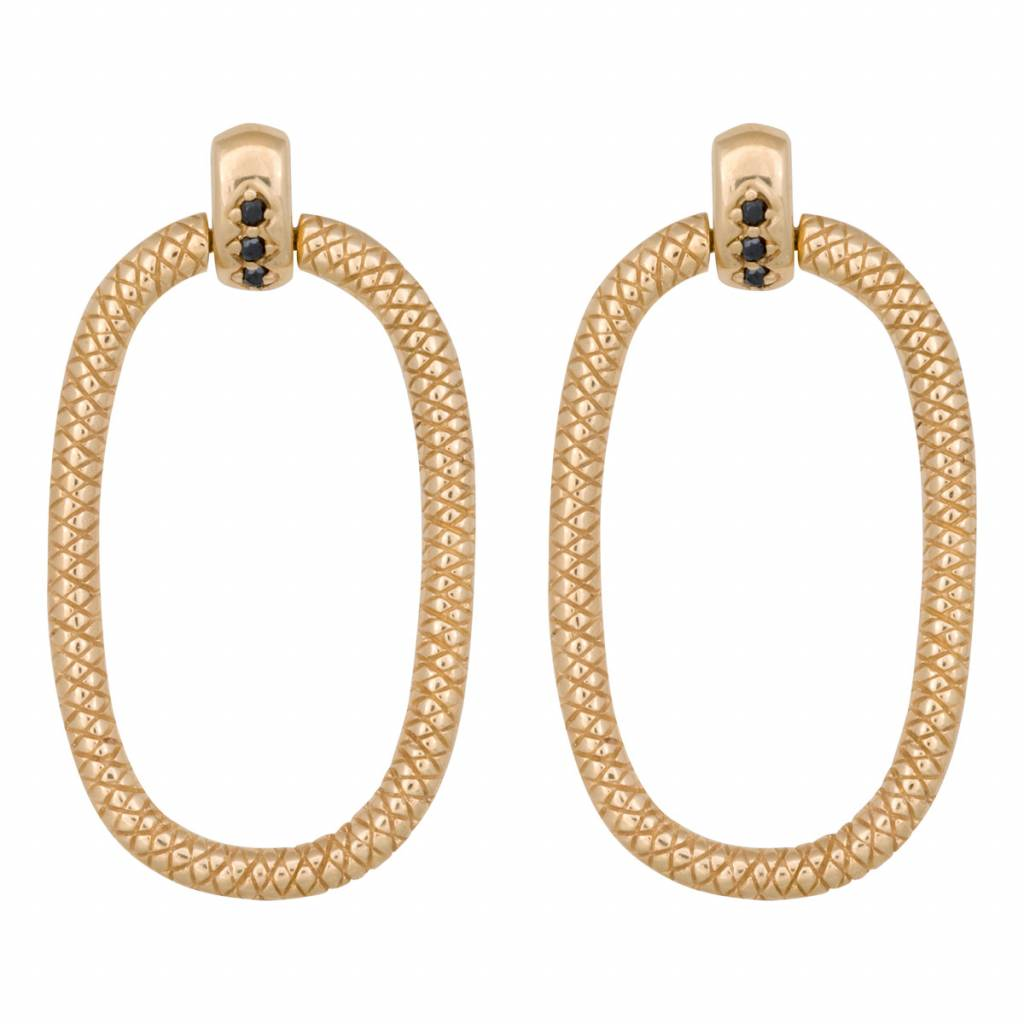 Eline Rosina Eline Rosina oorbellen - Door Knocker earrings gold