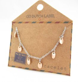 Go Dutch Label Armbanden Go Dutch Label - Coins zilver/rose goud