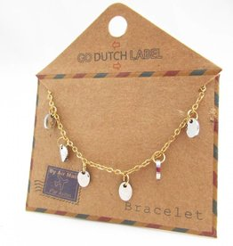 Go Dutch Label Armbanden Go Dutch Label - Coins goud/zilver