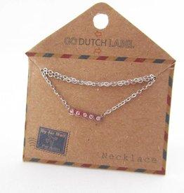 Go Dutch Label Kettingen Go Dutch Label - Swarvoski zilver