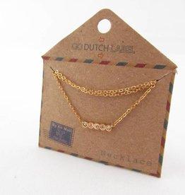Go Dutch Label Kettingen Go Dutch Label - Swarvoski goud
