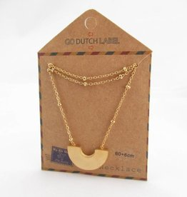 Go Dutch Label Kettingen Go Dutch Label - Boog goud (lang)
