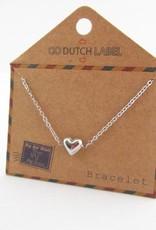Go Dutch Label Go Dutch Label - Hartje (3D) zilver