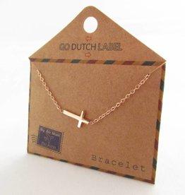 Go Dutch Label Armbanden Go Dutch Label - Kruisje rose goud
