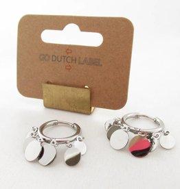 Go Dutch Label Oorbellen Go Dutch Label - Coins zilver