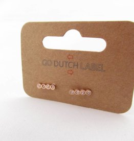 Go Dutch Label Oorbellen Go Dutch Label - Swarvoski rose goud