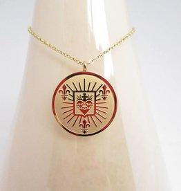 ZAG Bijoux ZAG Bijoux ketting (lang) - Big coin goud