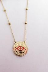 ZAG Bijoux ZAG Bijoux ketting - Eye coin goud