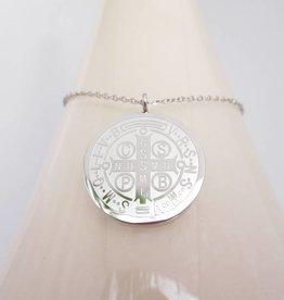 ZAG Bijoux ZAG Bijoux ketting (lang) - Big coin zilver