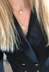 ZAG Bijoux ZAG Bijoux ketting - Eye coin zilver