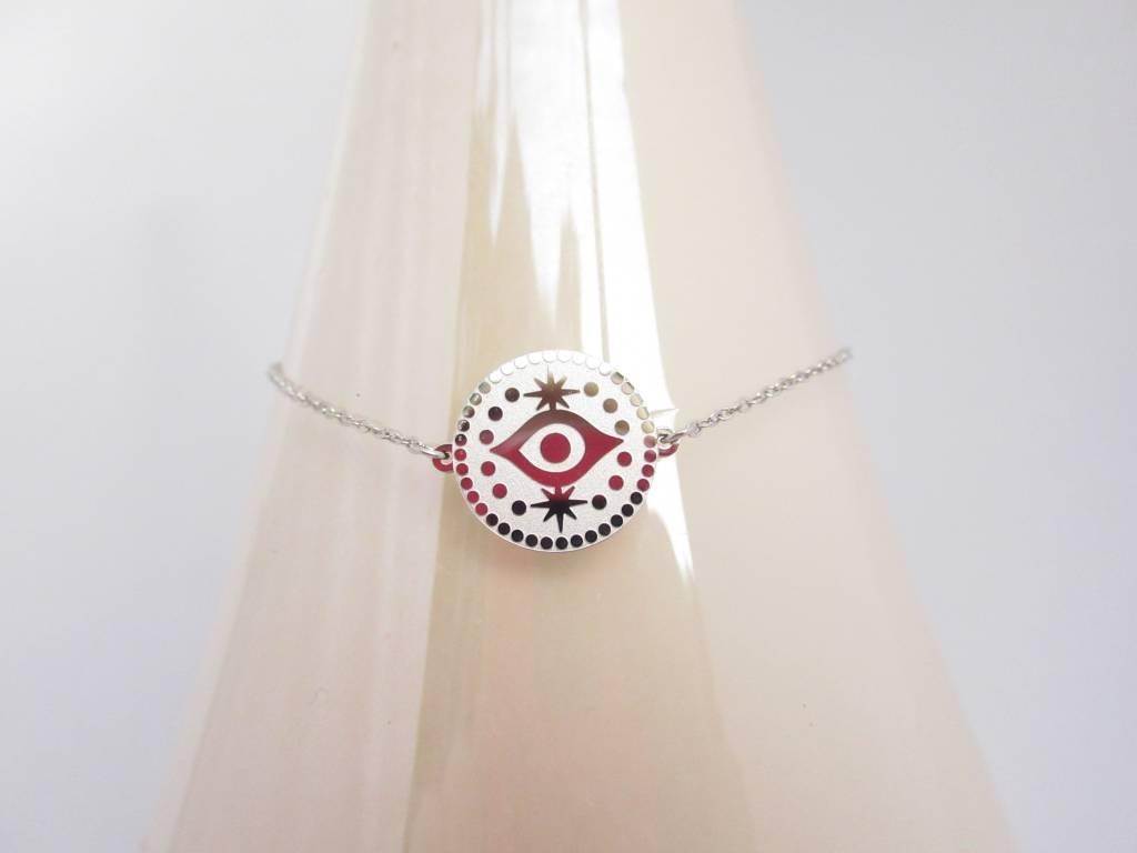 ZAG Bijoux Armband ZAG Bijoux - Eye coin zilver