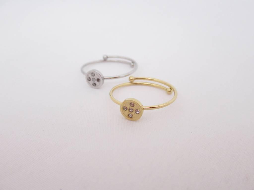 ZAG Bijoux ZAG Bijoux - Cirkel swarvoski ring zilver