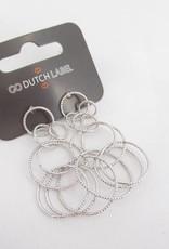 Go Dutch Label Go Dutch Label - Lange oorbellen cirkels zilver