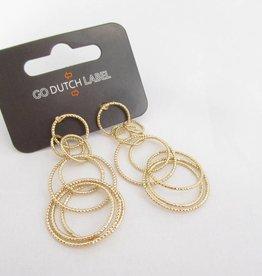 Go Dutch Label Oorbellen Go Dutch Label - Cirkels  goud