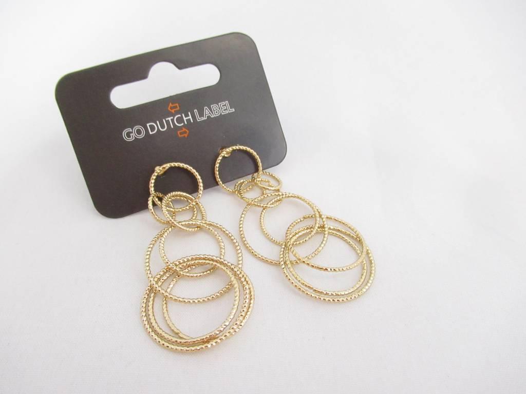 Go Dutch Label Go Dutch Label - Lange oorbellen cirkels goud