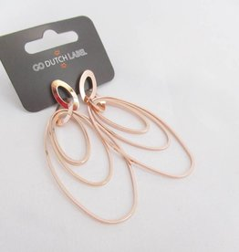 Go Dutch Label Oorbellen Go Dutch Label - Oorhangers ovaal rose goud