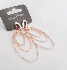 Go Dutch Label Oorbellen Go Dutch Label - Oorhangers ovaal rose goud
