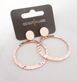 Go Dutch Label Oorbellen Go Dutch Label - Statement creool  rose goud