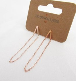 Go Dutch Label Oorbellen Go Dutch Label - V chain rose goud