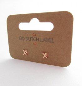 Go Dutch Label Oorbellen Go Dutch Label - X rose goud