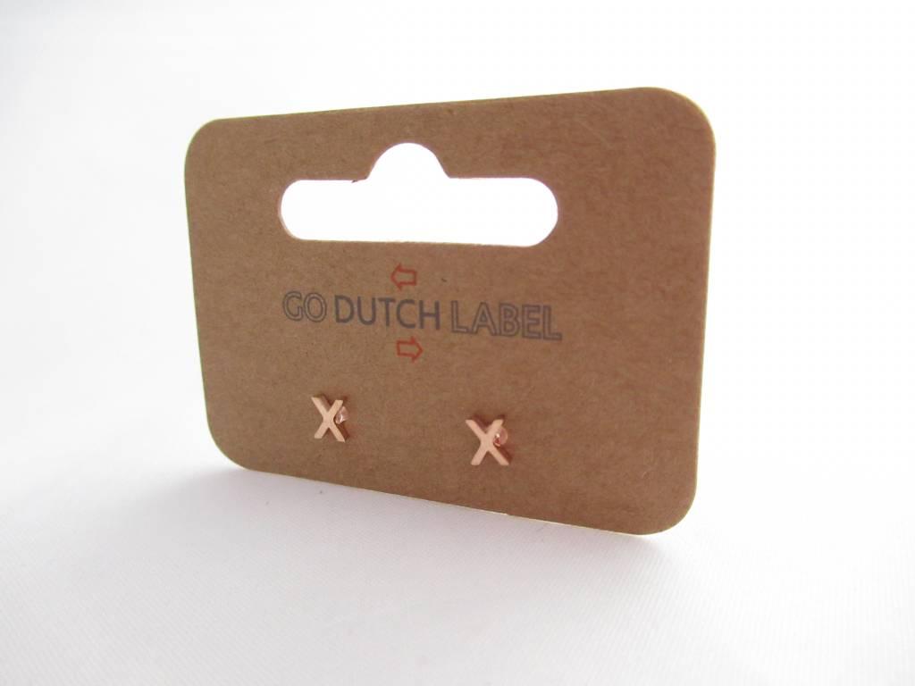 Go Dutch Label Ggoudo Dutch Label - X rose goud