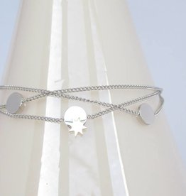 ZAG Bijoux Dubbele armband ZAG Bijoux - Sun coins zilver