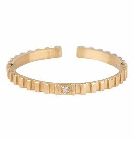 ZAG Bijoux ZAG Bijoux - Kartel swarovski ring goud