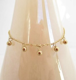 ZAG Bijoux Armband ZAG Bijoux - Dotted balls gold