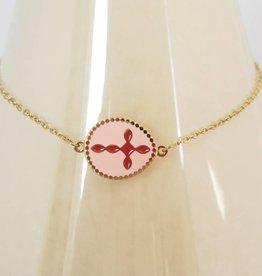ZAG Bijoux Armband ZAG Bijoux - Pink cross