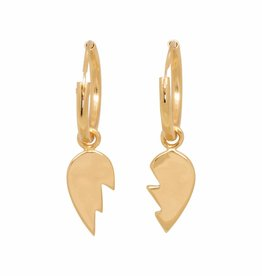Eline Rosina Eline Rosina oorbellen - Heart breaker hoops in gold