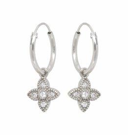 Eline Rosina Eline Rosina oorbellen - Essential zirconia hoops in gold plated sterling silver