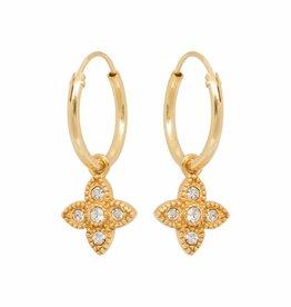 Eline Rosina Eline Rosina oorbellen - Essential zirconia hoops in gold