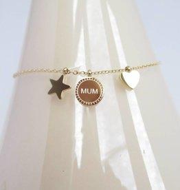 ZAG Bijoux Armband ZAG Bijoux - Love mum goud