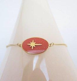 ZAG Bijoux Armband ZAG Bijoux - Sparkling north star coral goud