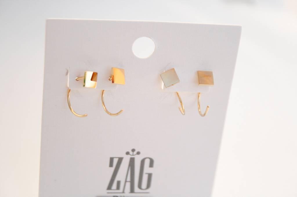 ZAG Bijoux ZAG Bijoux - Vierkant goud